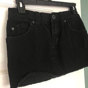 Roxy Black Jean Mini Skirt